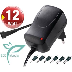 ECO-friendly plug-in power supply, max 1000 mA + USB MINWA MW3K10GS