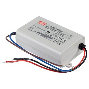 LED-Trafo, 25 W, 15 - 50 V DC, 500 mA MEANWELL APC-25-500