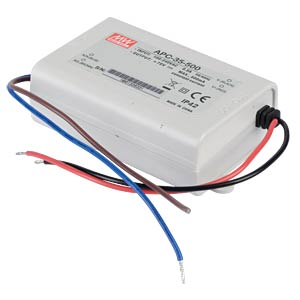 Power supply 25-70 V, 500 mA MEANWELL APC-35-500