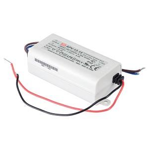 LED-Trafo, 12 W, 15 V DC, 800 mA MEANWELL APV-12-15
