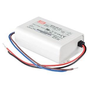 LED-Trafo, 36 W, 12 V DC, 3000 mA MEANWELL APV-35-12