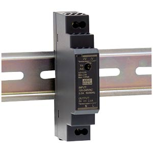 Schaltnetzteil, Hutschiene, 15,2 W, 24 V, 0,63 A MEANWELL HDR-15-24