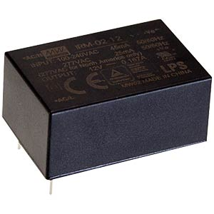SNT-module, 2 W, 3,3 V/0,6 A, PCB MEANWELL IRM-02-3.3