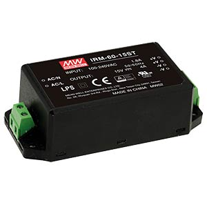 AC/DC-Wandler, 85 - 264 V AC, 15 V DC, Modul MEANWELL IRM-60-15ST