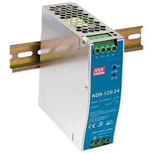 Power supply DIN rail 12 V, 10 A MEANWELL NDR-120-12