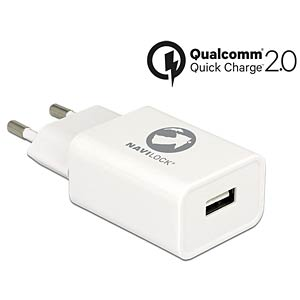 USB charger with Qualcomm® Quick Charge 2.0 NAVILOCK 62677