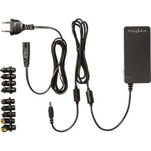 Notebook-Netzteil, 90 W, 15-19,5 V DC, 10-fach NEDIS NBARU90WBK