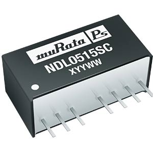 DC/DC converter NDL series 2 W, 12 V DC, SIP, single MURATA POWER SOLUTIONS NDL2412SC