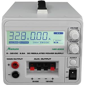 Laboratory power supply with digital display, programmable MANSON NEP-6303