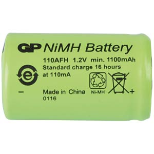 NiMh industrial cell from GP, solder lug, 1100 mAh GP-BATTERIES 110AFH1A1P