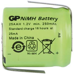 GP 1/3AA Industriezelle, NiMh, 250mAh,Lötfahne GP-BATTERIES