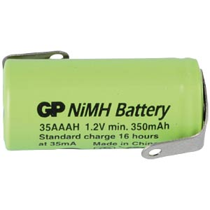 GP 1/2 AAA industrial cell, NiMh, 345 mAh, solder lug GP-BATTERIES