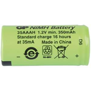 NiMh Akku, 1/2 AAA (1/2 Micro), 345 mAh, 1er-Pack GP-BATTERIES 301.35AAAH