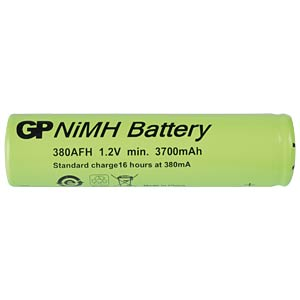 NiMh industrial cell from GP, 1.2 V, 7/5 AF, 3700 mAh, 17.5 x 67 GP-BATTERIES 301.380AFH-C1