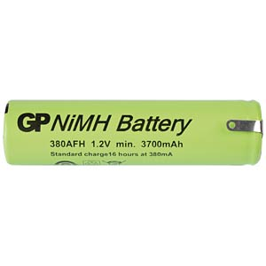 NiMh industrial cell from GP, solder lug, 3800mAh GP-BATTERIES 380AFH1A1P1C