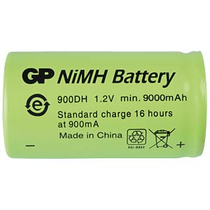 NiMh industrial cell from GP, 1.2 V, D, 9000 mAh, 33.0 x 60.0 GP-BATTERIES 301.900DH-C1
