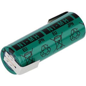 FDK A battery, NiMh, 2700 mAh, with solder lugs FDK