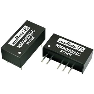 DC/DC converter, NMA series 1 W, 15 V/-15 V DC, DIL, dual MURATA POWER SOLUTIONS NMA0515DC