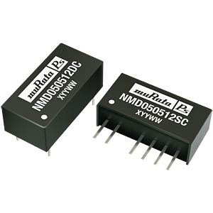 DC/DC-Wandler NMD, 1 W, 5 V, 100 mA, SIL, Dual MURATA POWER SOLUTIONS NMD050505SC