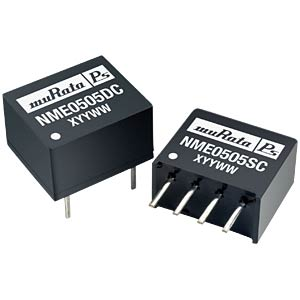 DC/DC converter NME series 1 W, 12 V DC, SIP, single MURATA POWER SOLUTIONS NME2412SC