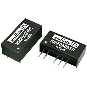 DC/DC converter NMF series 1 W, 5 V DC, SIP, single MURATA POWER SOLUTIONS NMF0505SC