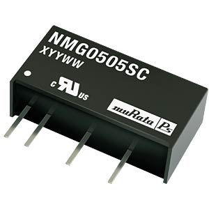 DC/DC-Wandler NMG, 2 W, 9 V, 222 mA, SIL, Single MURATA POWER SOLUTIONS NMG0509SC