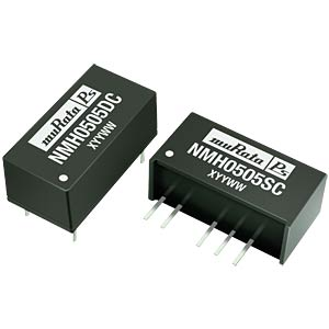DC/DC converter, NMH series 2 W, 15 V/-15 V DC, SIP, dual MURATA POWER SOLUTIONS NMH2415SC