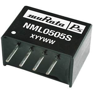 DC/DC converter NML series 2 W, 5 V DC, SIP, single MURATA POWER SOLUTIONS NML1205SC