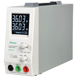 Lab compact power supply, 1-20 VDC / up to 5 ADC MANSON NSP-2050-305MG