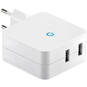 USB-Reiseladeadapter 230V, 4,2A GOOBAY 67930