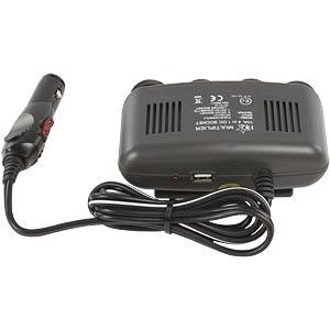 4-way car distributor, 12 V + USB output FREI