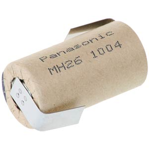 Sub-C-Akku, NiMh, 1,2 V, 2600 mAh, Z-Lötfahnen PANASONIC