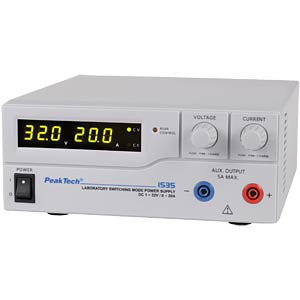 PeakTech laboratory switching power supply DC 1 - 32 V/0 - 20 A PEAKTECH P 1535
