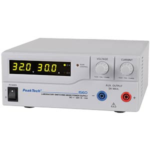 PeakTech laboratory switching power supply DC 1 - 32 V/0 - 30 A PEAKTECH P 1560