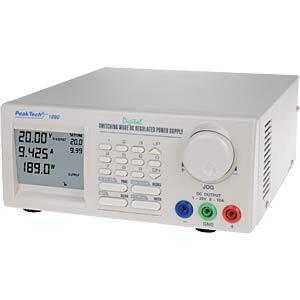 DC switching power supply, 1 - 40 V DC/0 - 5 A DC PEAKTECH PEAKTECH 1885