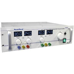 Stabilised laboratory power supply, 0 - 24 V/0 - 30 A DC/AC PEAKTECH P 5985