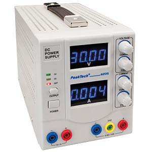 Stabilised laboratory power supply unit, 0 - 30 V/0 - 5 A PEAKTECH 6205