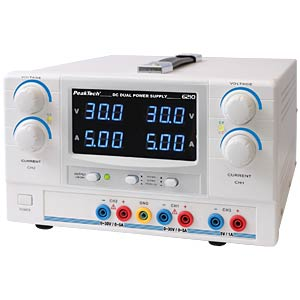 Stabilisiertes Labornetzgerät, 2x 0-30 V / 0-5 A PEAKTECH 6210