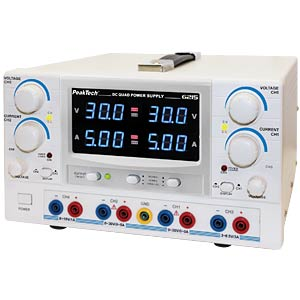 Stabilised laboratory power supply unit, 4-CH 0 - 30 V/0 - 5 A PEAKTECH 6215