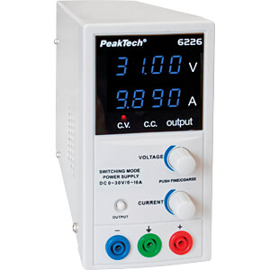 Laboratory power supply, 0 - 30 V, 0 - 10 A PEAKTECH P 6226