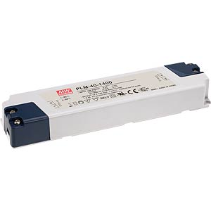 LED switching power supply, 40 W, 15 - 29 V/1400 mA MEANWELL PLM-40-1400