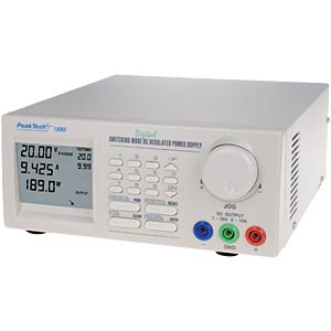 DC switching power supply, 1 - 20 V DC/0 - 10 A DC PEAKTECH PEAKTECH 1890