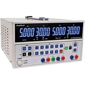 Labornetzgerät 2 x 0 - 30 V DC / 2 x 0 - 5 A DC PEAKTECH P 6075