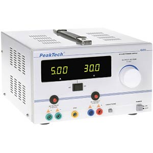 AC/DC stabilised laboratory power supply 0 - 30V/5A PEAKTECH P 6120