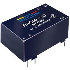 AC/DC-Wandler, 80 - 264 V AC, 12 V DC, Modul RECOM 20000799
