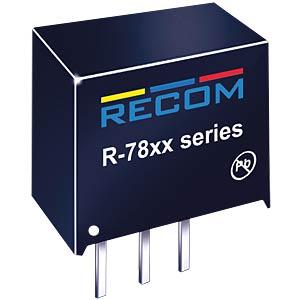 DC/DC-Wandler R78, 3,3 V, 500 mA, SIL-3, Single RECOM 80099052