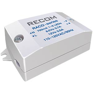 AC/DC, 6 W, 700 mA RECOM 21000131