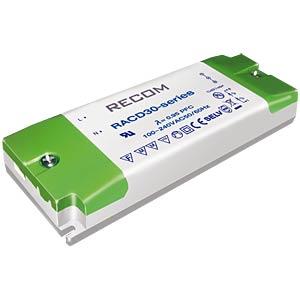 LED-Trafo, 30 W, 10 - 56 V DC, 500 mA RECOM 21000151