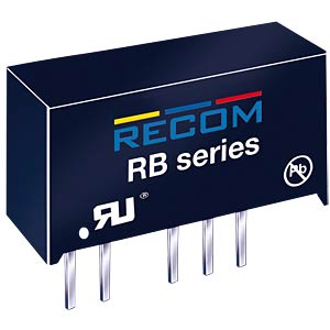 DC/DC-Wandler RB, 1 W, 5 V, 200 mA, SIL-7, Single RECOM 10000078