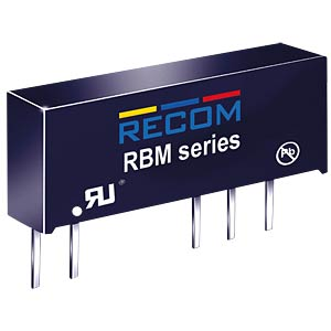 DC/DC-Wandler RBM, 1 W, 12 V, 41 mA, SIL-7, Dual RECOM 10000165